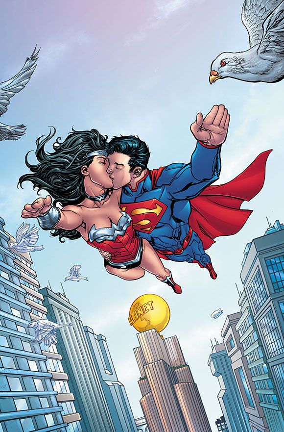 Superman Wonder Woman Futures End 1A