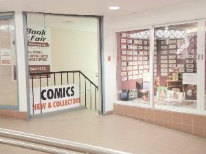 Book Fair Winnipeg - stairs access from 2nd floor skywalk